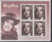 SVEZIA SWEDEN 2005 Greta Garbo USA joint issue sheet ** MNH HOLLYWOOD MOVIES CINEMA