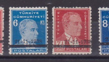 TURCHIA TURKEY – 1939 MORTE ATATURK 917F/17F MNH