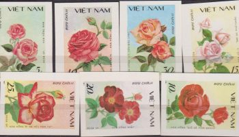 VIETNAM FLORA FLOWERS ROSE MNH IMPERF SET