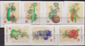 VIETNAM VEGETABLES MNH IMPERF SET